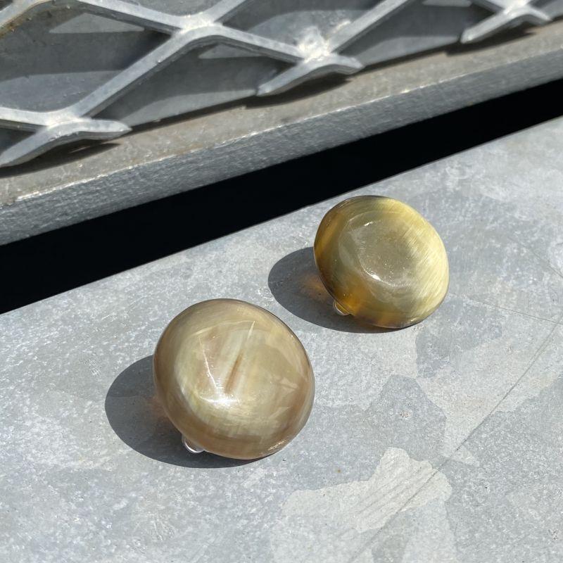 画像1: Natural Horn Circle earring  e