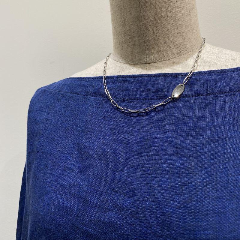 画像1: サインプレートネックレス  silver