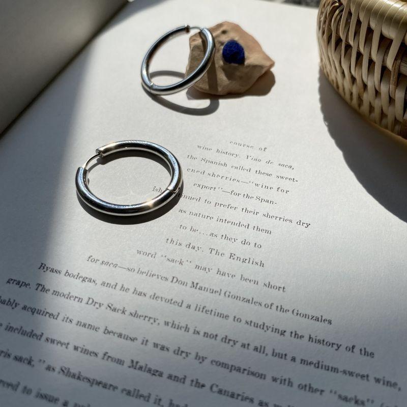 画像1: φ25 silver pierce